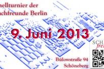 15. Offenes Schnellturnier - 9. Juni 2013
