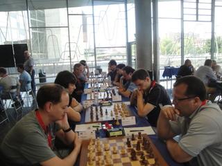 Arnd Lauber spielte gegen Alexey Dreev Remis.