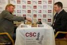 Boris Becker und Nigel Short bei den London Chess Classics 2011, Foto: Ray Morris-Hill