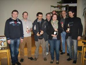 vlnr: Artukovic, Günther, Cirakoglu, Zelanti, Skogvall, (dahinter versteckt:) Escher, Möller, Reissner
