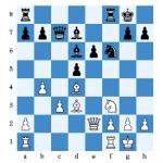 Daniel spielte hier 16...Tae8?!. Besser, aber schwer zu berechnen ist 16...Sg4!