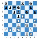 Schwarz lehnte hier die Qualität dankend ab und spielte 15...c5