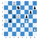 (Kunze - Galley nach 35...Sd7) Es folgte 36.Ke6 Sf8+ 37.Kd5 Sd7 38.a5+ Kb5 39.Ke6 Sf8+ 40.Kf7 Sd7 41.Tc7 Sf8 42.Txc5+ und Schwarz gab auf.