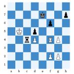 (Scholz - Galbraith nach 46...Ke7) Hier einigten sich beide Spieler auf Remis.