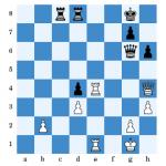 (Jarvinen - Westphal nach 40.T5e4) Hier überschritt Schwarz die Zeit.